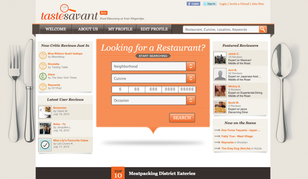 Taste Savant: A new restaurant review site for discerning foodies. As in, not Yelp.