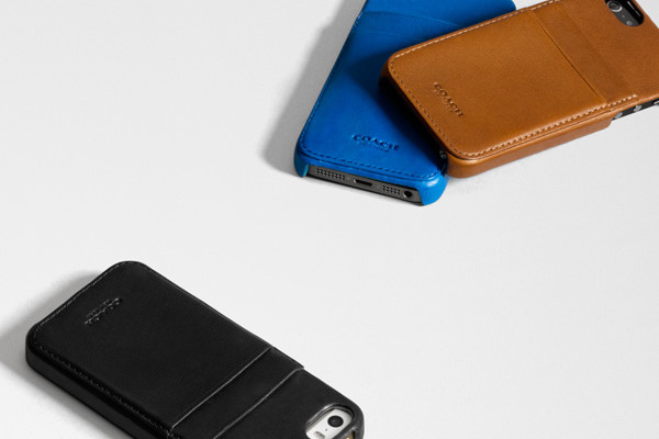Coach leather iPhone cases for dad