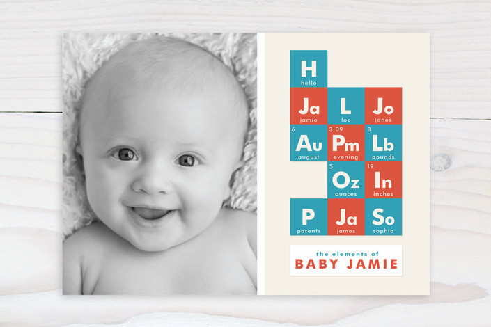 Geeky birth announcements are elemental CoolMomTech – Cute Birth Announcement