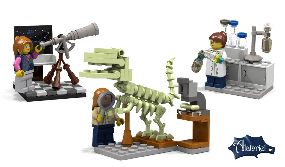 LEGO introduces female scientist Minifigs, or as we like to think of them, scientists.