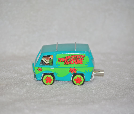 Scooby Doo Mystery machine toy upcycled into a flash drive