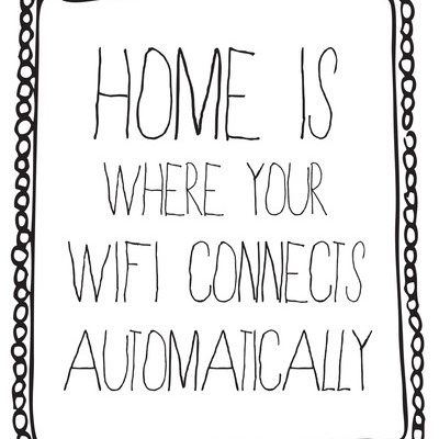 Wifi techy typography poster - Sara Eshak on Society 6 | Cool Mom Tech