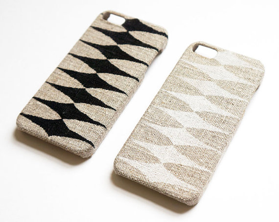 Linen iPhone cases from Starfish Creature Galaxy on Etsy