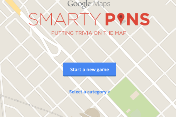Play SmartyPins geography trivia game with Google Maps