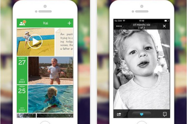 LIfecake app digital photo journal for new parents