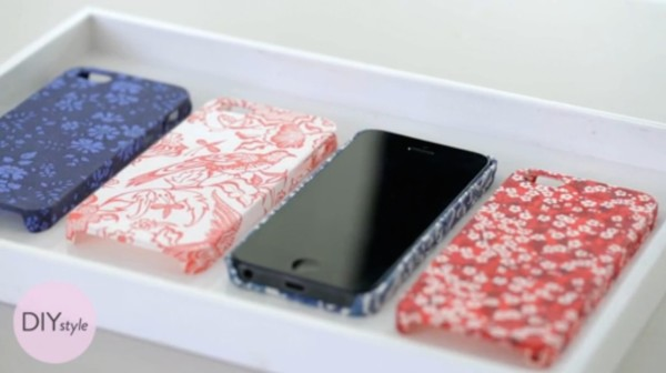 DIY fabric iPhone covers - video on Martha Stewart
