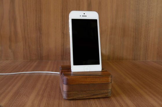 Wooden Charging Dock ~ A wooden charging dock to fit any phone or tablet even