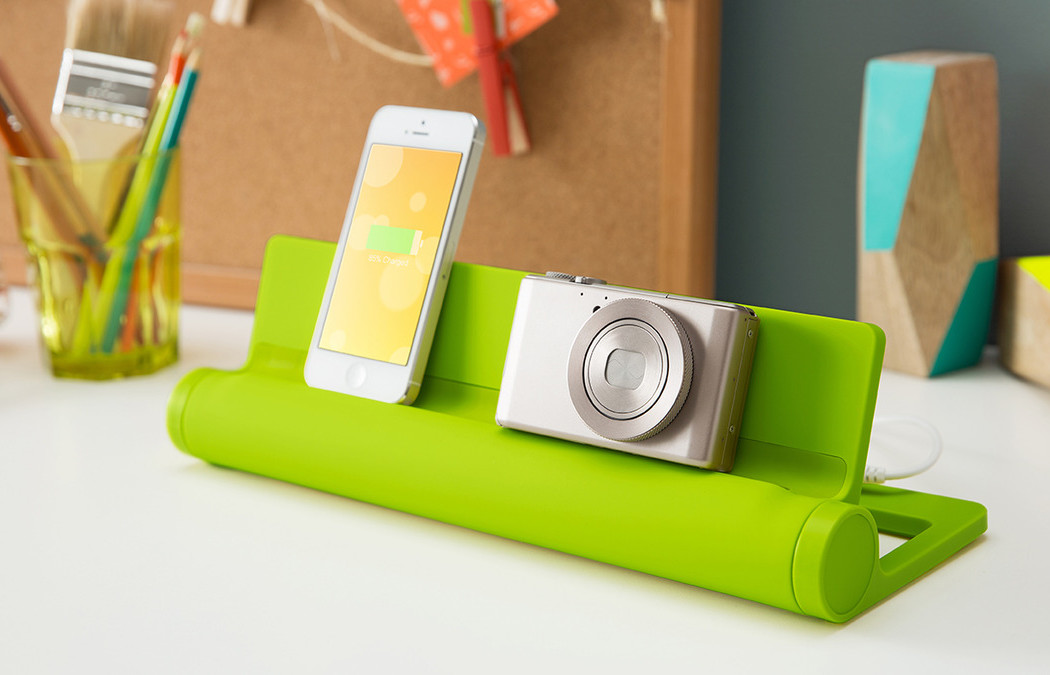 Converge 4-part charging station at Quirky | coolmomtech.com
