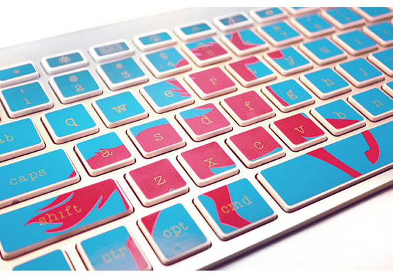 Unicorn keyboard decals on Cool Mom Tech