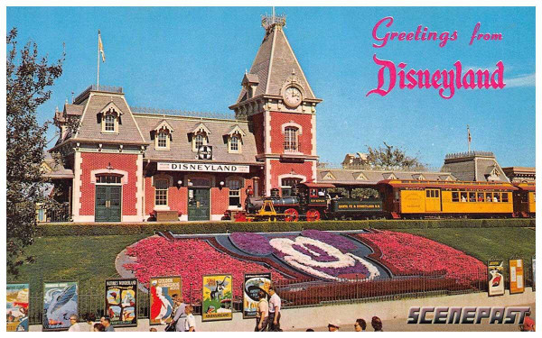 Disneyland postcard on ScenePast app| Cool Mom Tech