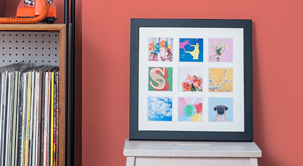 What to do with Instagram photos? Print them, then frame them. What a concept.