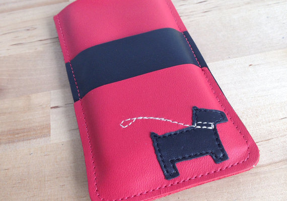 Mally Leather iPhone case: Scotty Dog design