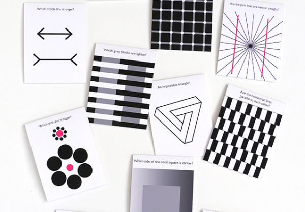 Free printables: Optical illusion flash cards or lunch box notes for kids
