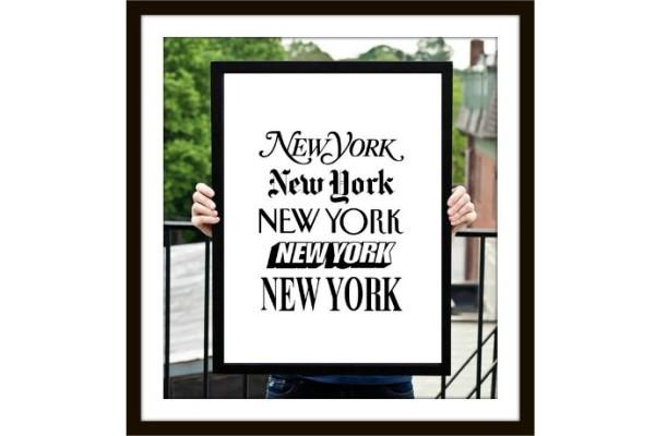 Printable New York periodical typographical Art on Pinterest