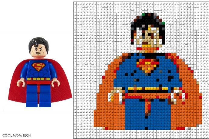 Superman LEGO Portrait Mosaics from Photobrix | coolmomtech.com