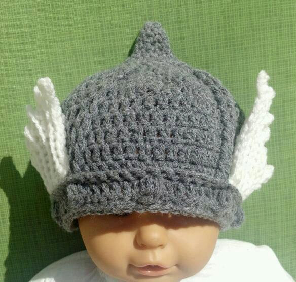 Crocheted Thor baby hat