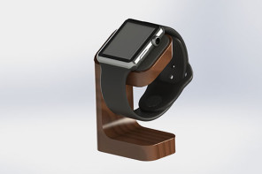 The first of the Apple Watch accessories is here, with the DODOcase Apple Watch charging stand.