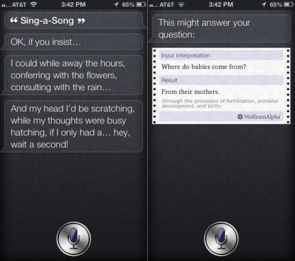 Funny questions for Siri