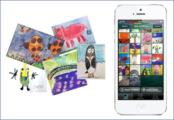 Artkive app concierge service digitizes your children's artwork for you
