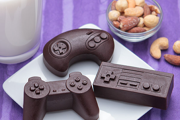 DIY game controller chocolates on Cool Mom Picks