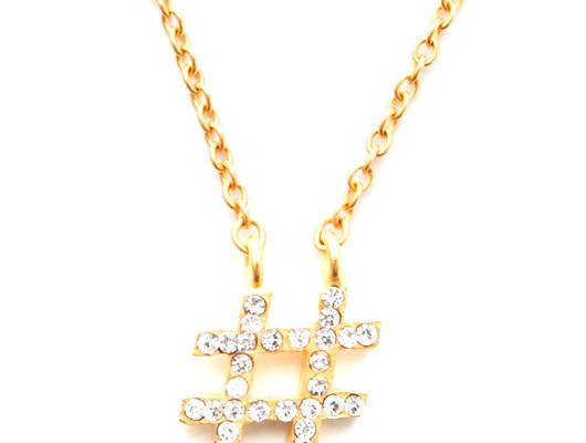 blingy hashtag necklace by Electric Picks