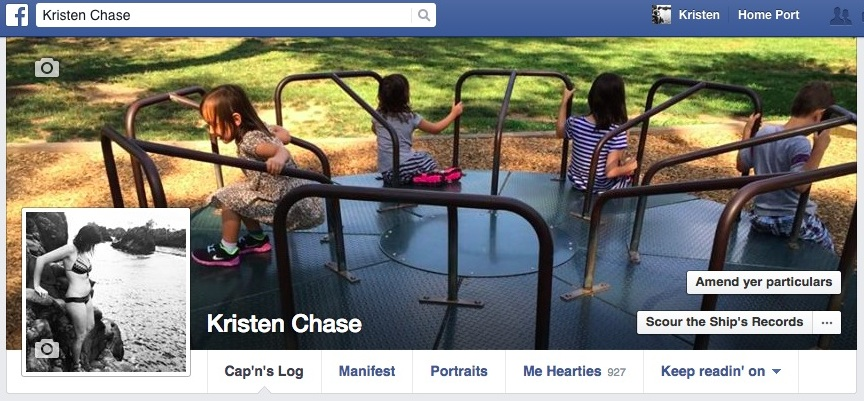 How to change your Facebook page to Pirate speak for Talk Like a Pirate Day.