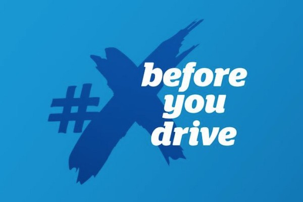 #X before you drive no texting campaign