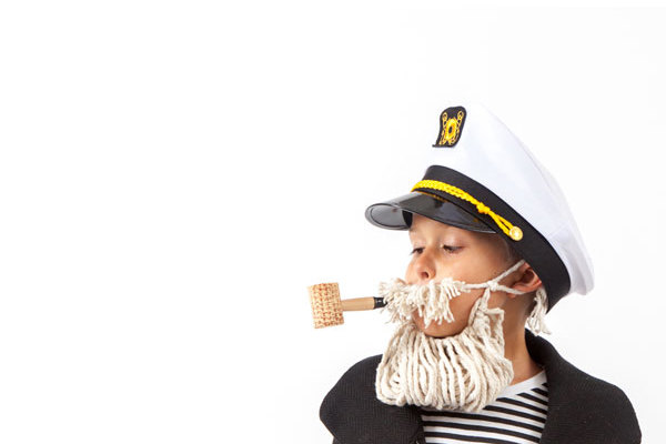 Tips for taking the best Halloween photos of kids | Sailor costume via Oh Happy Day