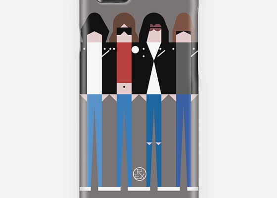 Cool smart phone cases: The Ramones iPhone case by Simple People on Casetify