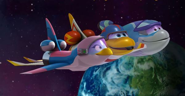 Fly through the air and explore outer space with Space Racers! app