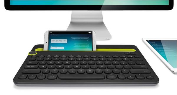 The Logitech K480 Bluetooth keyboard makes it easy to multitask among multiple devices