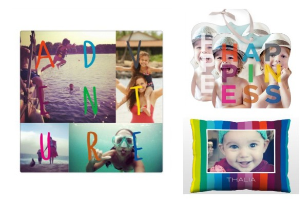 Modern custom photo gifts in the new Novogratz for Shutterfly line