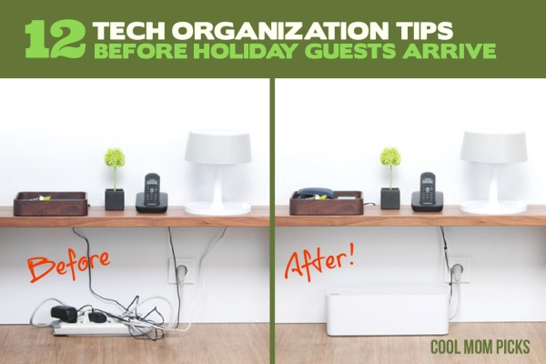 12 tech organization tips to get your home ready for the holidays