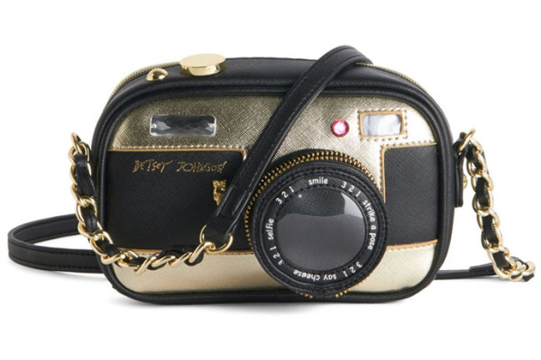 Holiday gift for camera lovers: Betsey Johnson Photographic Charm Bag