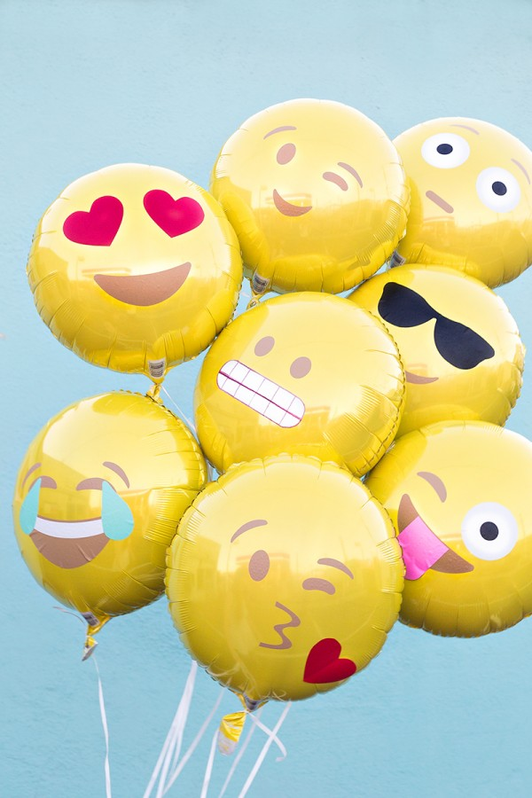 DIY Emoji Balloons from Studio DIY