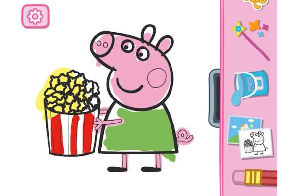 Free Peppa Pig App: Peppa's Paintbox