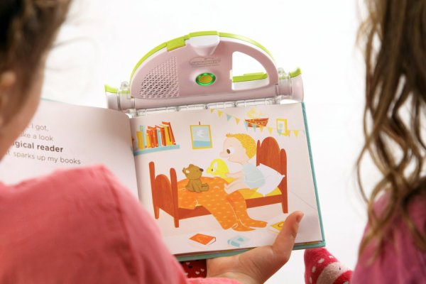 The Sparkup e-reader for kids reads to you child!
