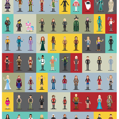 Cool artwork for geeky girls: Hall of Heroes poster by Scott Park
