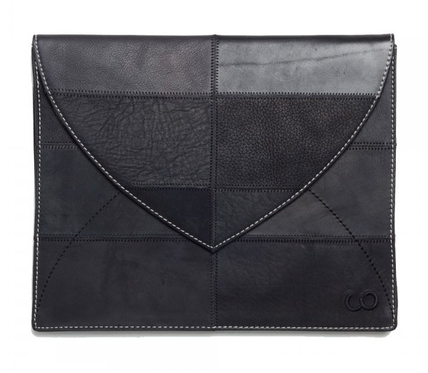 Looptworks upcycled leather iPad sleeve