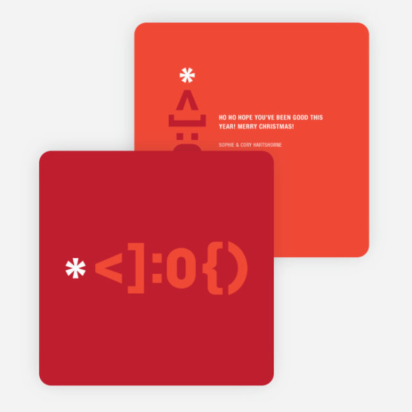 Christmas cards for geeks: Santa emoticon cards from Paper Culture
