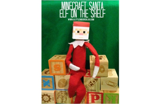 Minecraft Santa Elf on a Shelf