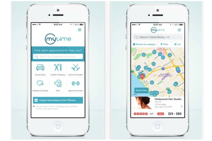 Need a mani-pedi, a piano lesson, and an oil change this week? The MyTime app is on it.