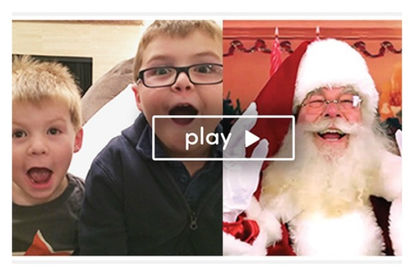Let your kids video chat with Santa with the Hello Santa app