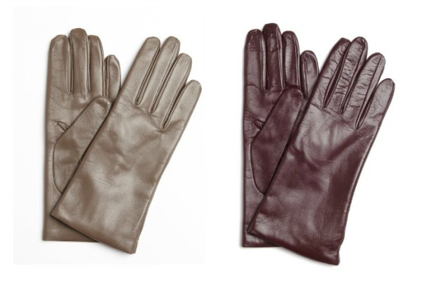 Leather touch screen gloves at Bluefly, now on sale