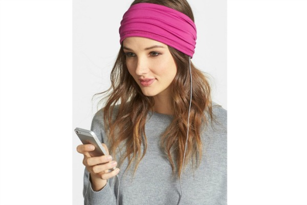 Pleated tech headphones headband from Nordstrom