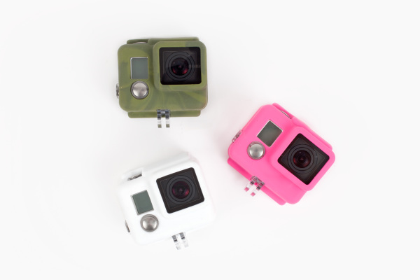 The new protective, waterproof silicone cases made just for Go-Pro cameras