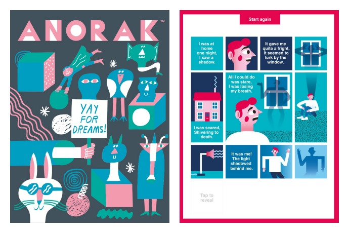 Anorak: The happy magazine for kids goes digital with a fun app.