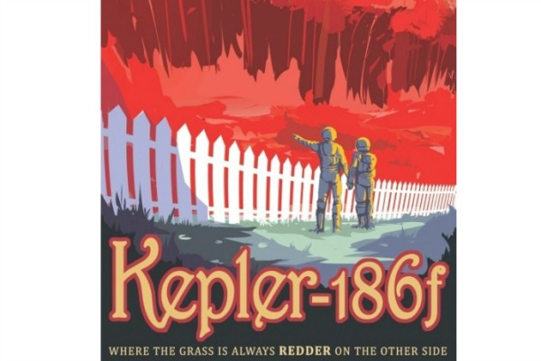 Nasa's Kepler-186f printable vintage travel poster