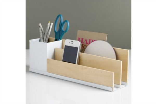 For your organizational resolution, a pretty, simple desk organizer from See jane Work