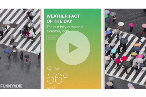 "The Funny or Die Weather app has real forecasts and hilarious ""facts""."